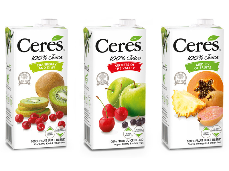 Ceres ( Fruit Juices, Iced Fruit Teas ) South Africa